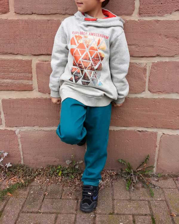 Pattern drafting Boys Easy Pullup Pants