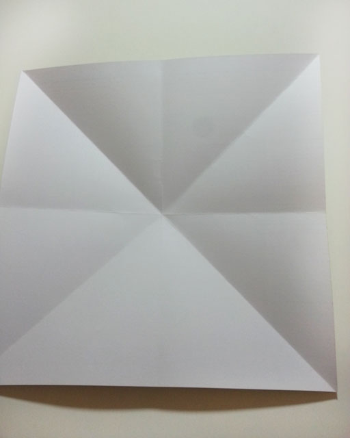paper folded to make a box